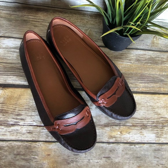fd5a690584f Alex Marie Shoes - Alex Marie Brown And Chestnut Penny Loafers 9.5